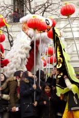 Nouvel An chinois (Paris, 1er février 2015) - Char et musique