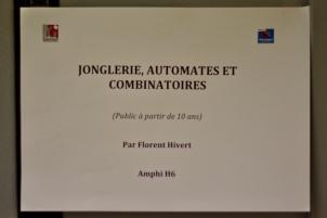 """Florent Hivert, atelier """"Jonglerie, automates et combinatoire"""""""