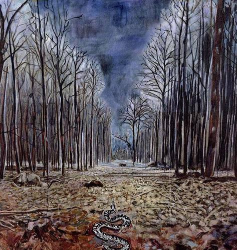 """Anselm Kiefer, """"Resurrexit"""", 1973"""