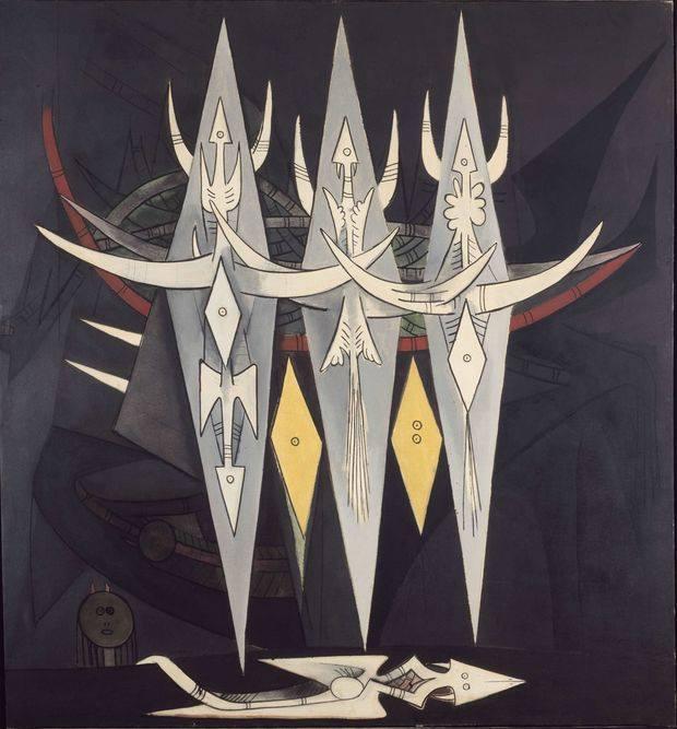 """Wilfredo Lam, """"Umbral"""", 1950"""