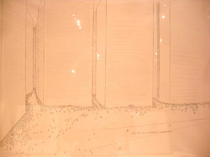 """Dessin de Sempé, années 1970 ou 1980 (exposition """"Sempé"""" à l'Hôtel de Ville de Paris, mars 2012)"""