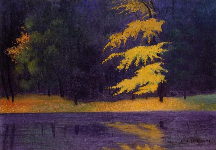 Le lac du Bois de Boulogne, 1921