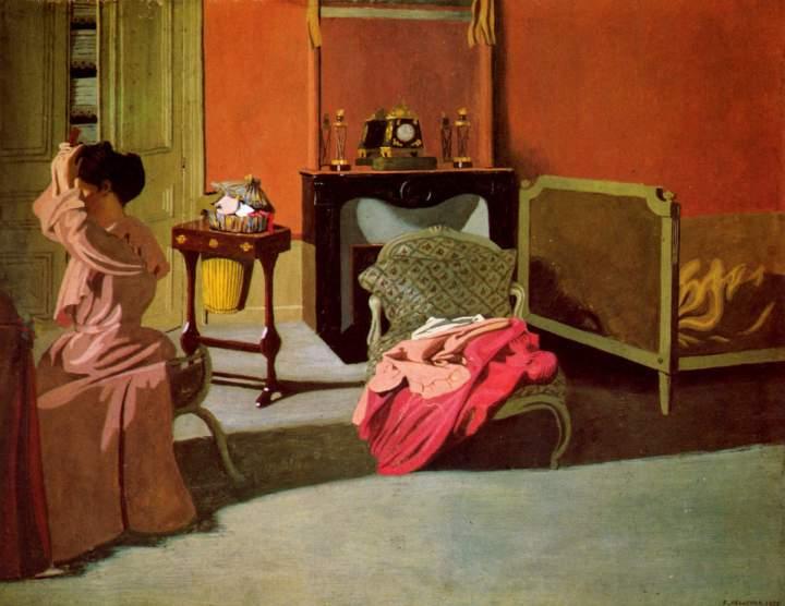 Femme se coiffant, 1900