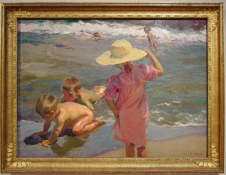"Joaquín Sorolla, ""Enfants au bord de la mer"", 1903"